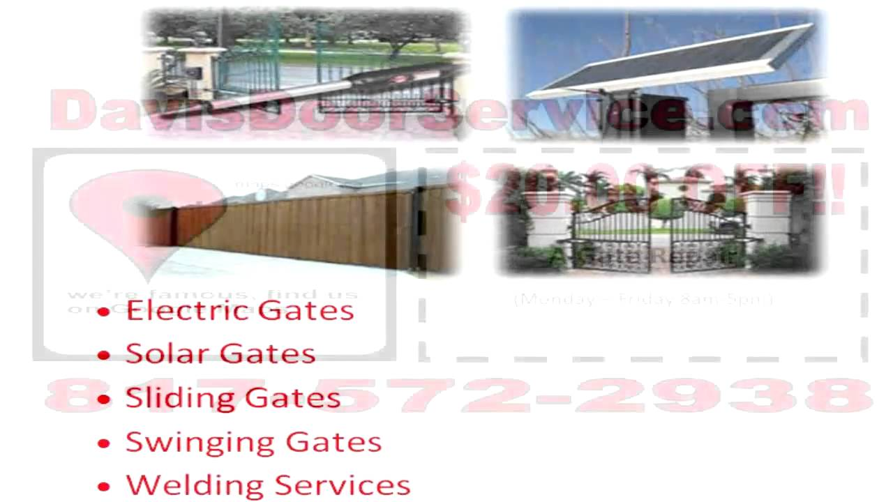 Gate Opener Repair Fort Worth Texas Youtube