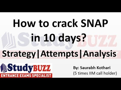 How to crack SNAP exam in 10 days?