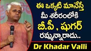 ఈ ఒక్కటి మానేస్తే షుగర్ జన్మలో రమ్మన్నరాదు | Control Diabetes in Telugu | Dr Khadar Valli | PlayEven