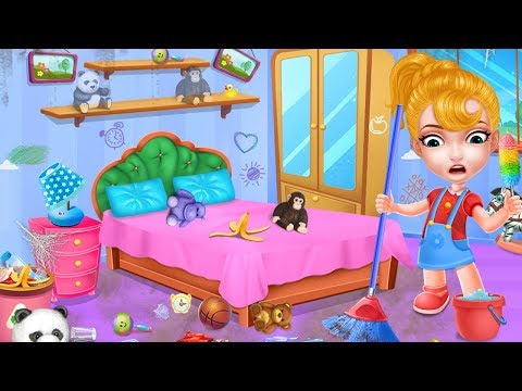 Keep Your House Clean - Girls Home Cleanup Game - Baby Games Video