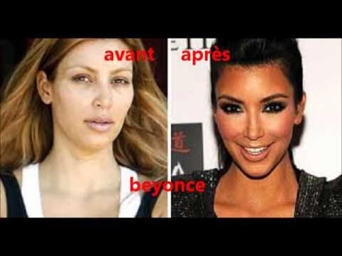 stars avant après maquillage (make up)
