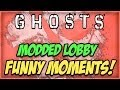 COD Ghosts MODDED LOBBY FUNNY MOMENTS! (Funny Reactions!)