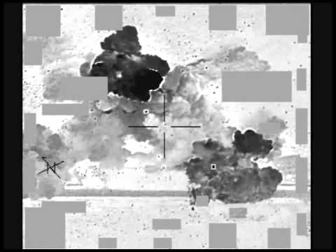 Airstrike against an ISIL fighting position April 6 near Kobani, Syria