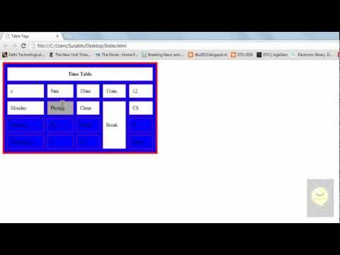 HTML Tutorial 7 - Table Background Color