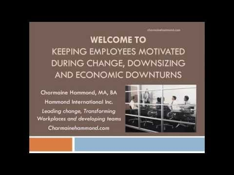 Keeping employees motivated during change, downsizing and economic downturns