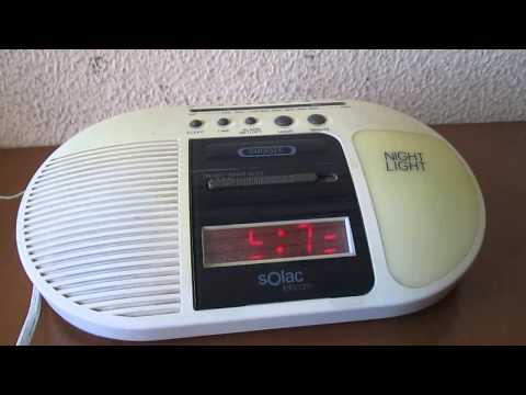 Radio Reloj Despertador.Solac Telecom Modelo 4018