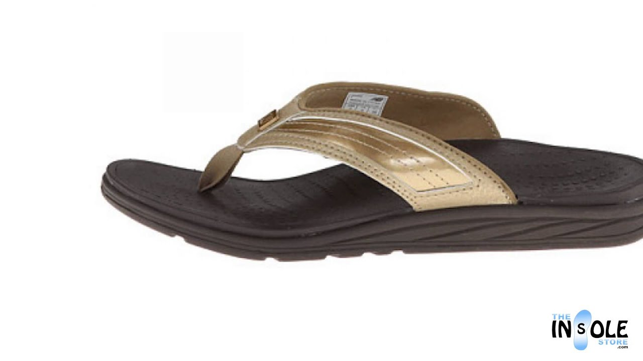 New Balance Revitalign RX Gold Flourish Thong Sandals for Women - YouTube