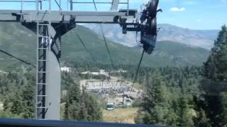 Two grannies on a gondola snowbasin Utah 8/17/14