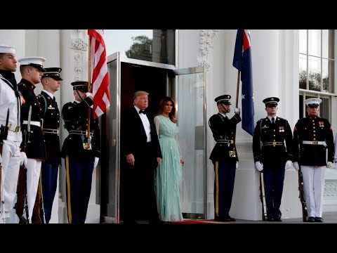 WATCH: Morrison arrives for Trump's state dinner