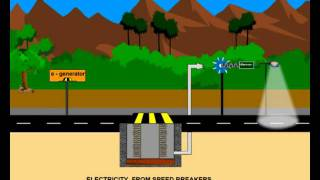 Eco friendly Electricity generation: Electricity from speed breakers