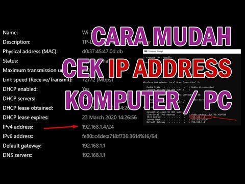 Cara Mengetahui IP Address Komputer.