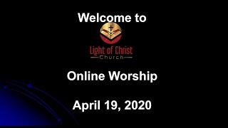Sunday Worship Service (April 19,2020)