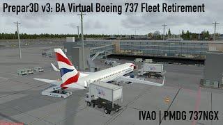[Prepar3D v3/IVAO] Full Flight   BA Virtual B737 Retirement   Oslo-Copenhagen   PMDG 737-800