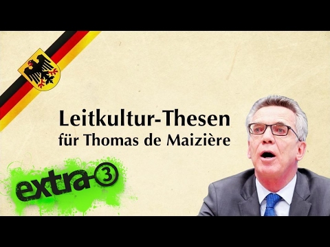 Die Leitkultur-Thesen für Thomas de Maizière   extra 3   NDR