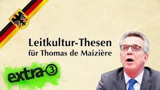 Die Leitkultur-Thesen für Thomas de Maizière