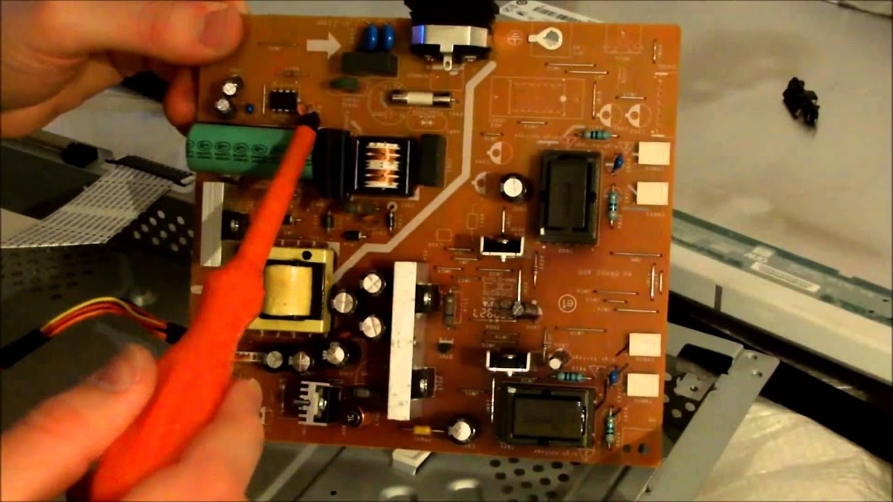 LCD Monitor power supply repair on
