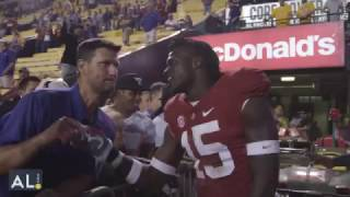 Ronnie Harrison tells trash talking LSU fan to