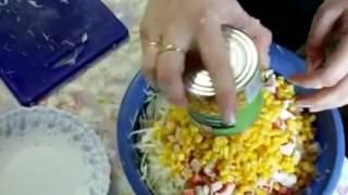 капустно - крабовый салат