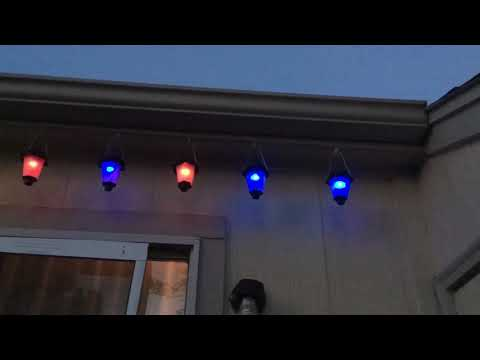My color changing solar lanterns