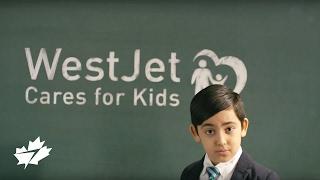 Anlässlich 10 Jahre WestJet Kümmert sich um Kinder