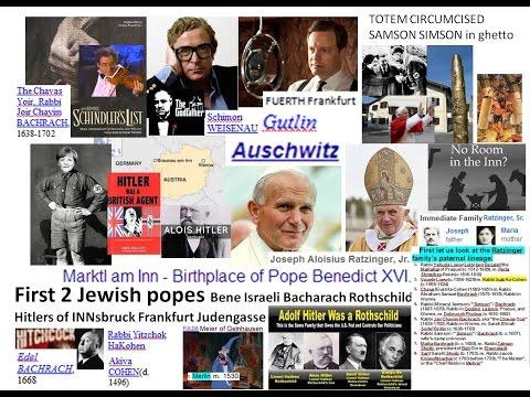 First 2 Jewish popes Bene Israeli Bacharach Rothschild Caine Hitlers of INNsbruck Frankfurt Judengas