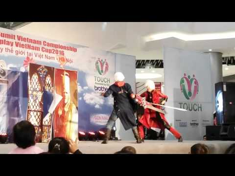 [Cosplay live] Devil may cry 4 - Nero VS Dante