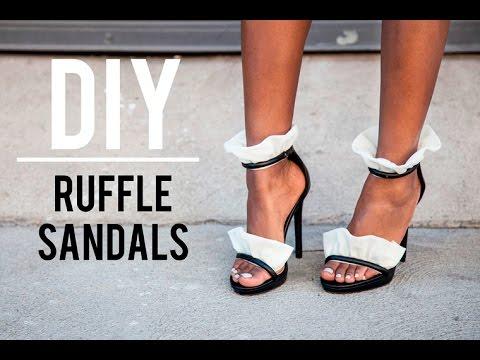 193269dcdd8c3d DIY  Ruffle Sandal- Oscar Tiye - YouTube