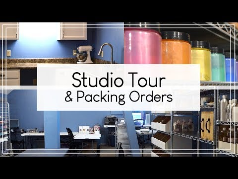 Winter Soap Series: Studio Tour & Packing Orders - MO River Soap