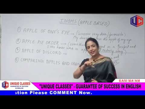 IDIOMS (Apple Based) | Idioms And Phrases With Meanings In English | For SSC & Bank [Hindi] | Part-1