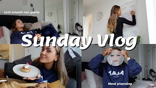SUNDAY VLOG | H๐w to set up a bulletproof week to reach your goals | Meal planning & baking with me