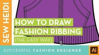 Fashion Ribbing Using Illustrator 2 Ways: Dashed Lines & The Blend Tool