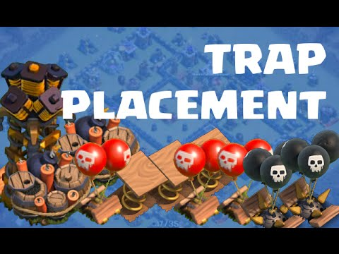 Clash of Clans | IMPORTANCE OF TRAP PLACEMENT | Polishing a TH9 War Base #1