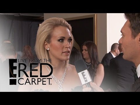 Carrie Underwood Dazzles in Black at 2016 Grammys | Live from the Red Carpet | E! News