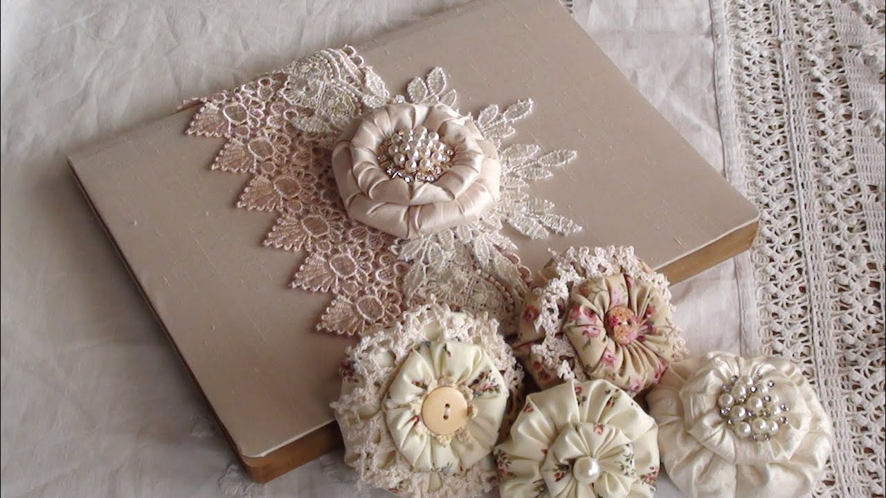 Puffy Shabby Flower Tutorial And Small Project Share