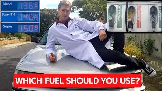 EXPLAINING THE DIFFERENCE BETWEEN UNLEADED, PREMIUM & E-FUEL