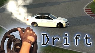 Assetto Corsa - Drifting with BMW M3 E92, Thrustmaster T500rs steering wheel gameplay. HD 1080p 2014