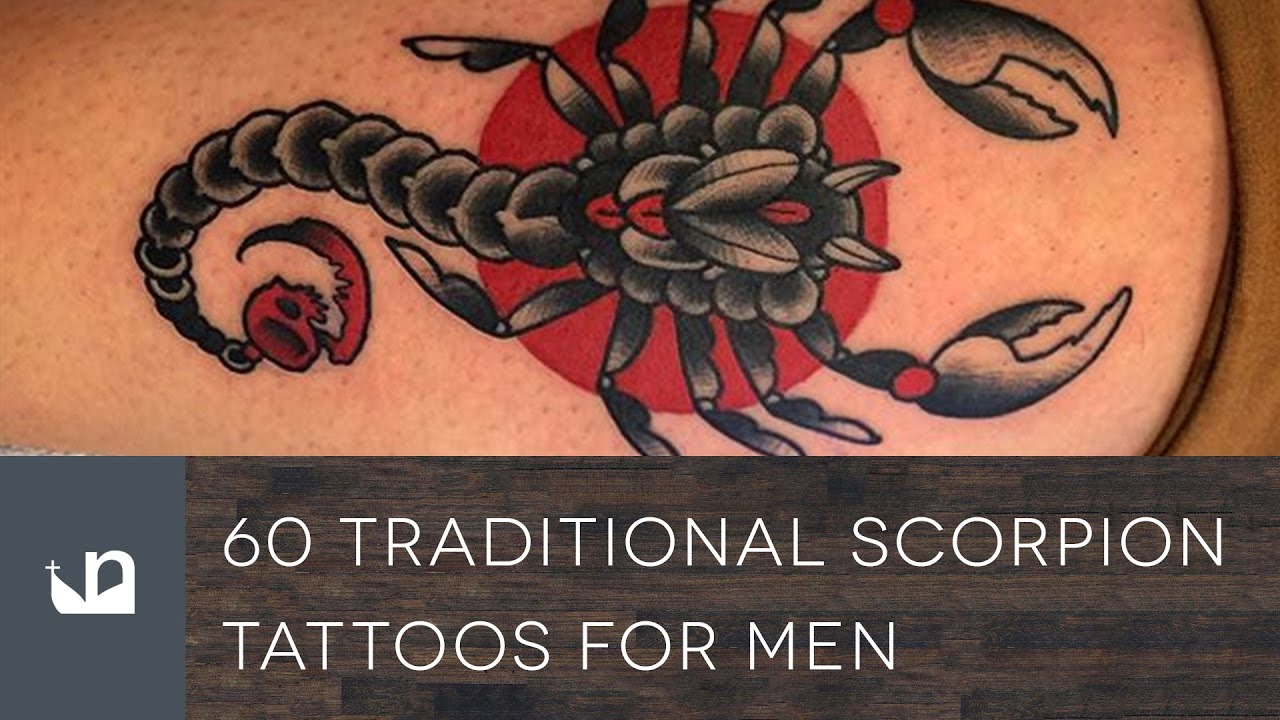 60 Traditional Scorpion Tattoos For Men Youtube
