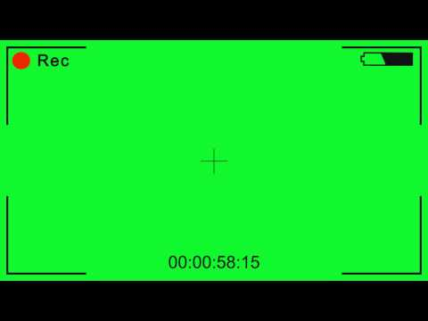 Video Camera recording - green screen effect