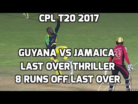 Thrilling Last Over Finish by  Kesrick Williams - Guyana Amazon Warriors vs Jamaica Tallawahs - CPL