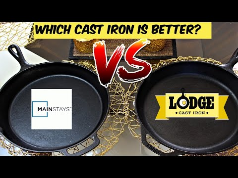 Which Cast Iron Skillet Is Better? | Lodge Cast Iron VS Mainstays Cast Iron | Should You Buy?
