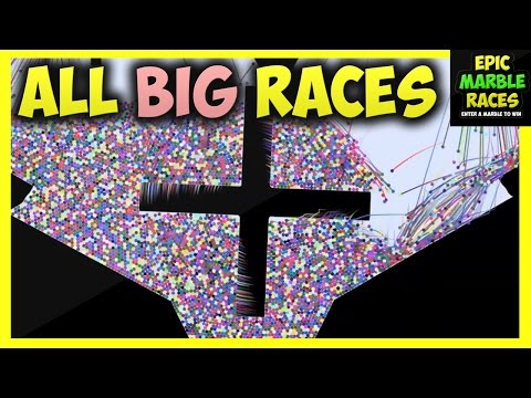 ALL BIG Marble Runs - Epic Marble Race