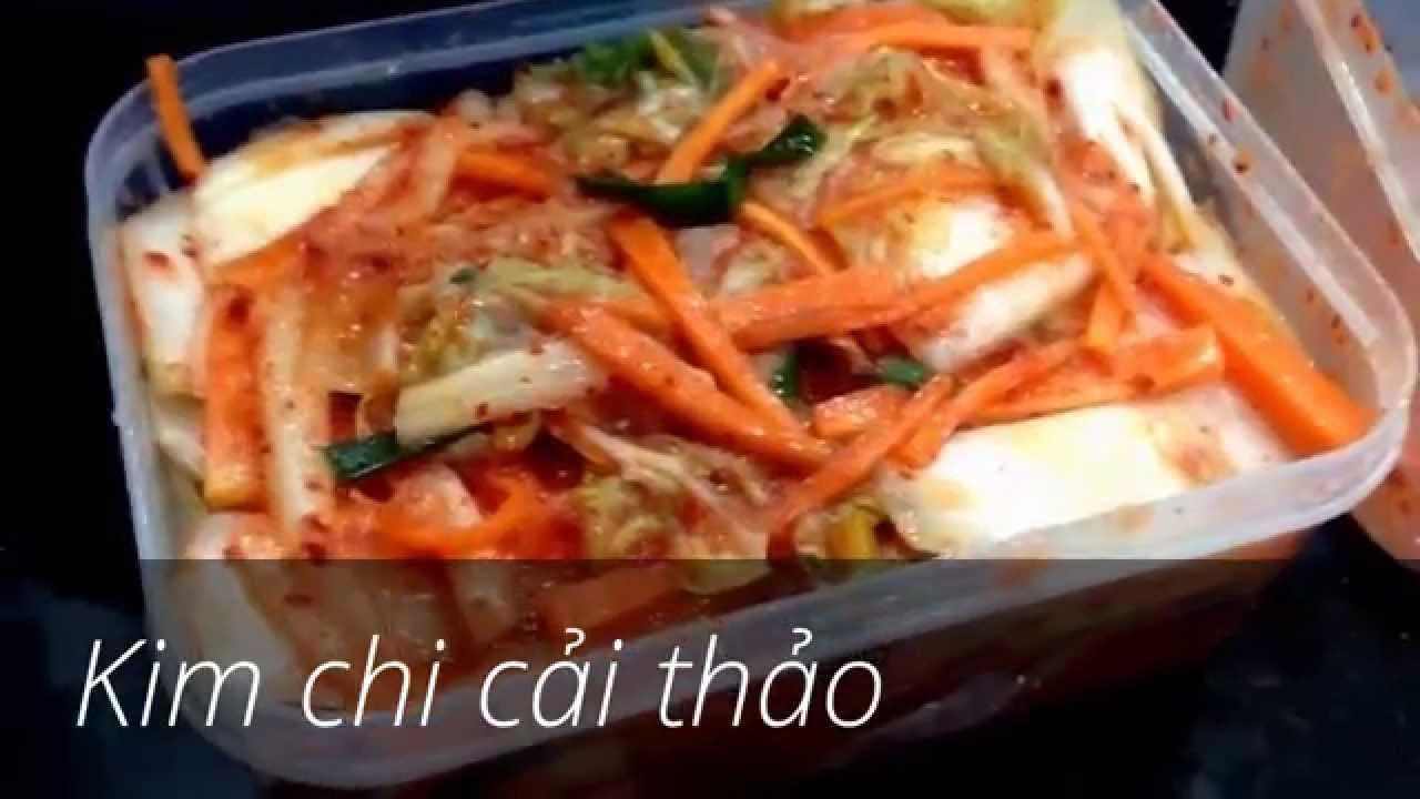 C\u00e1ch l\u00e0m kim chi c\u1ea3i th\u1ea3o - Kimchi Recipe - \uae40\uce58 - YouTube