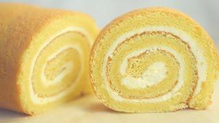 Swiss Roll Cake/Vanilla swiss roll cake/Basic swiss roll cake.