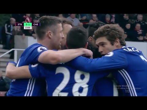 Stoke City vs Chelsea 1-2 - Extended Goals Highlight - Premier League - 18.03.2017