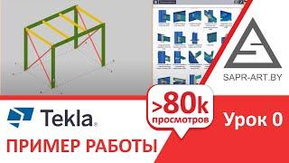 Tekla Structures Урок 0. Целиком