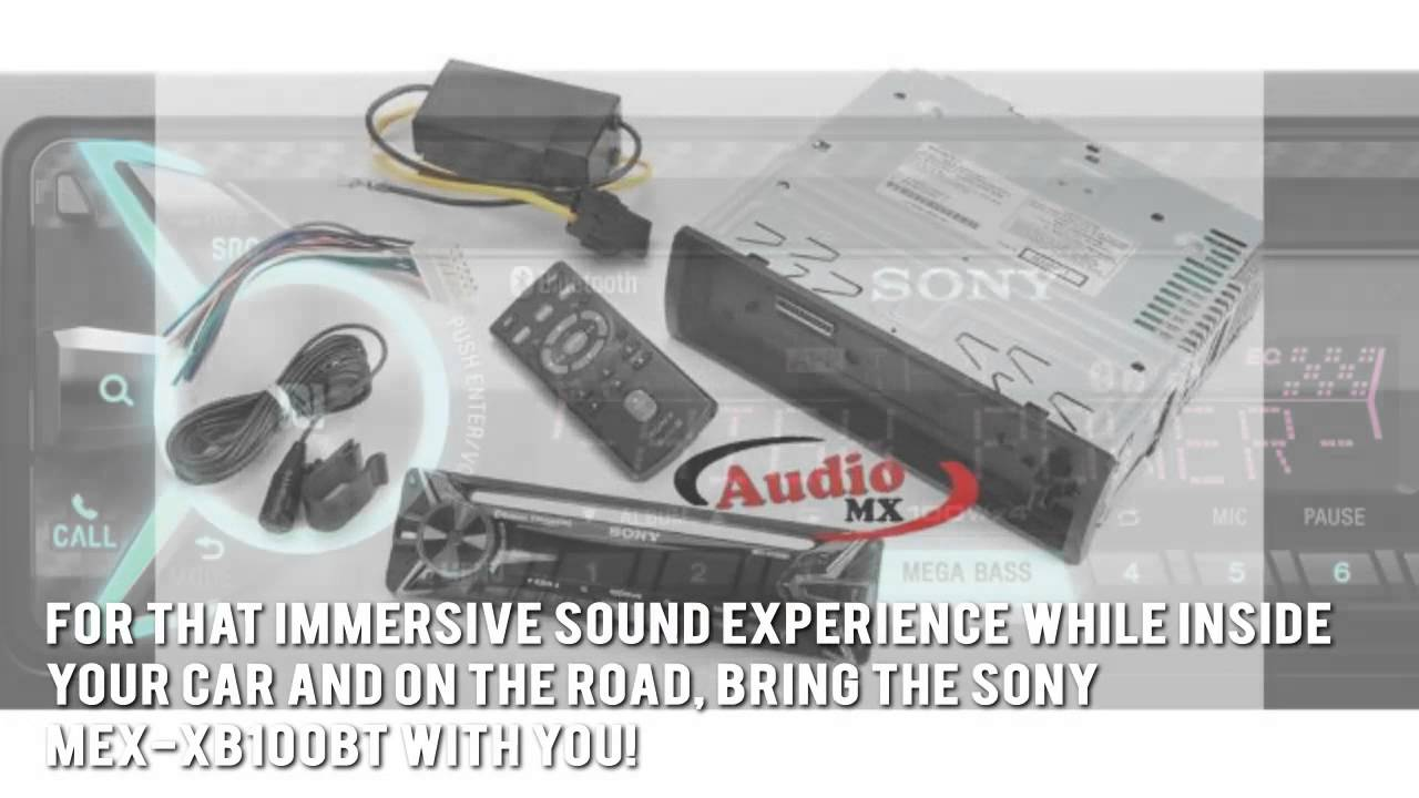 maxresdefault sony mex xb100bt car stereo review youtube sony mex xb100bt wiring harness at aneh.co