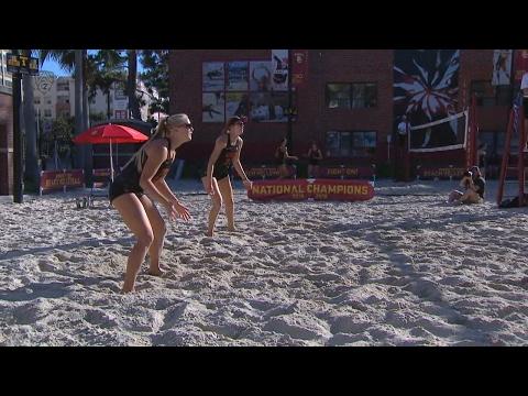 USC beach volleyball coach Anna Collier after win: