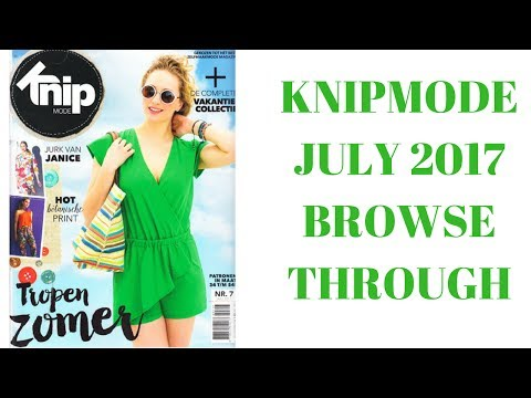 KnipMode 07/2017 Dutch Sewing Magazine Browse Through
