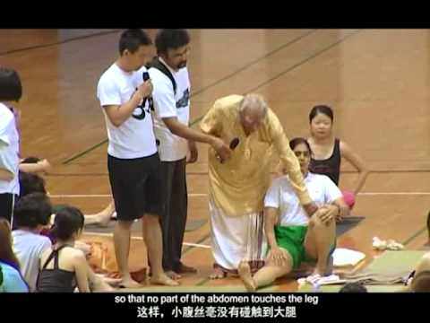 2011 China-India Yoga Summit - Asana Review in the afternoon (Yoga, B.K.S. Iyengar)