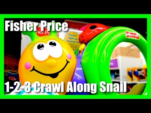 Fisher Price 1-2-3 Crawl Along Snail - Light Up Musical Giggle Fun Toy